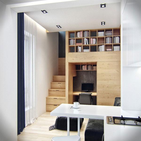 Ngôi nhà 18m² đậm cá tính nhờ nội thất gỗ độc đáo 5