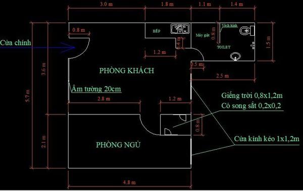 Tư vấn cải tạo và bố trí đồ nội thất cho căn hộ thuê 31m² 1