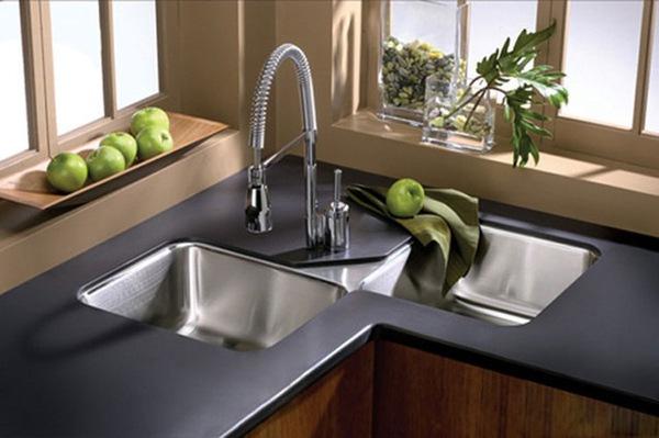 5 mẫu bồn rửa bát đẹp và tiện cho bếp chật 2