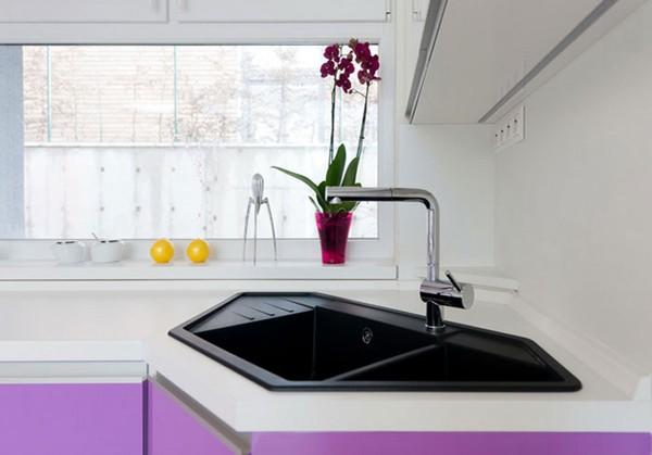 5 mẫu bồn rửa bát đẹp và tiện cho bếp chật 5