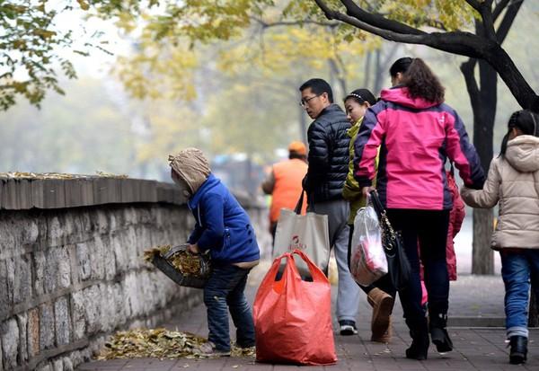 Cuộc sống của bé gái không được đến trường, phải theo ông bà đi quét rác 4