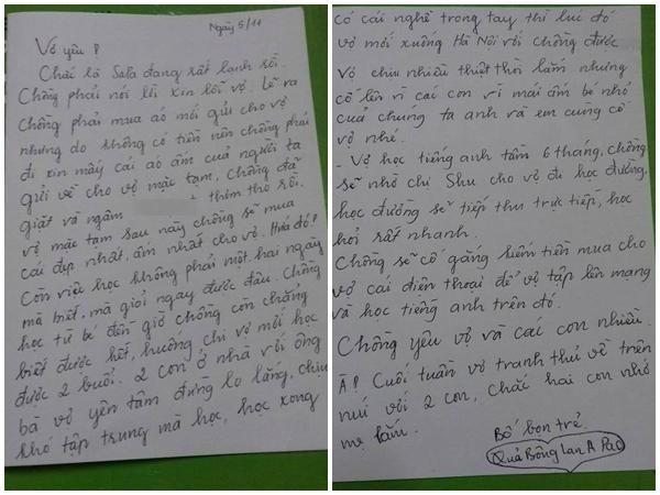 thư gửi vợ