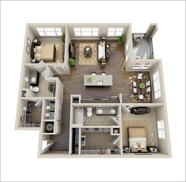 10 mẫu căn hộ hai phòng ngủ tuyệt đẹp cho gia đình trẻ 1