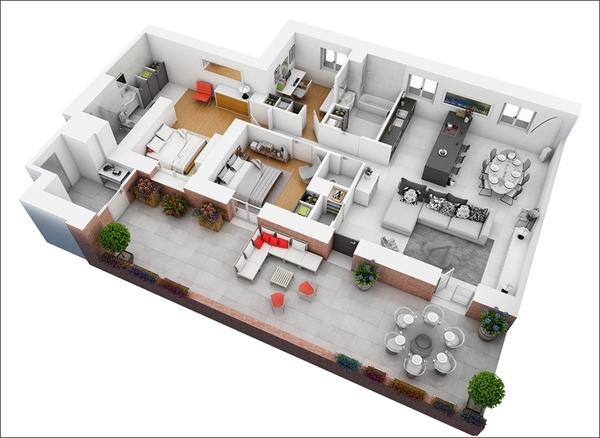 10 mẫu căn hộ hai phòng ngủ tuyệt đẹp cho gia đình trẻ 10