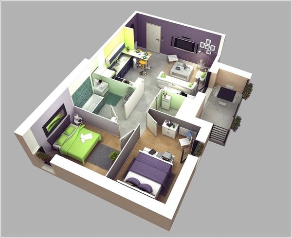 10 mẫu căn hộ hai phòng ngủ tuyệt đẹp cho gia đình trẻ 3
