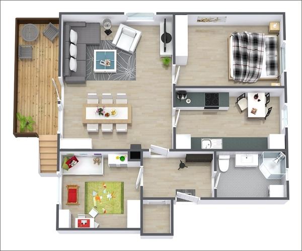 10 mẫu căn hộ hai phòng ngủ tuyệt đẹp cho gia đình trẻ 7