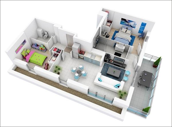 10 mẫu căn hộ hai phòng ngủ tuyệt đẹp cho gia đình trẻ 9