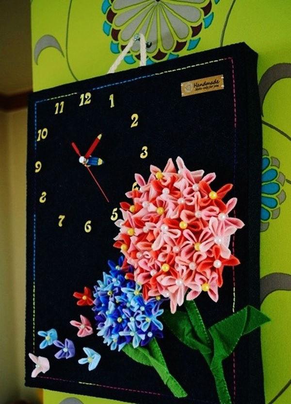 Tranh đồng hồ hoa cẩm chướng trang trí nhà ấn tượng 1