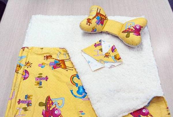 Tự may bộ chăn gối và khăn đáng yêu tặng bé 18