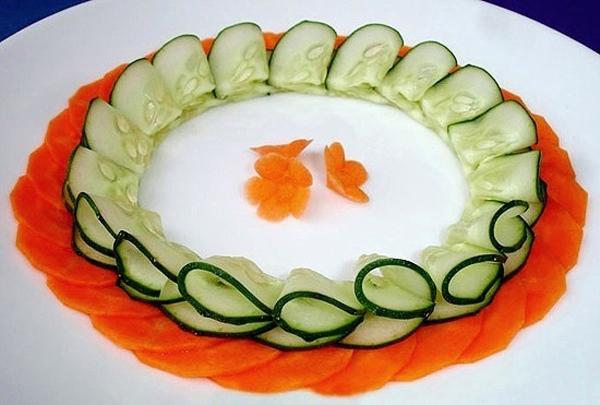 4 cách cắt rau củ cơ bản trang trí đĩa ăn đẹp mắt 5