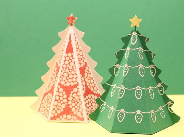 Tự chế hộp quà hình cây thông Noel siêu xinh 1