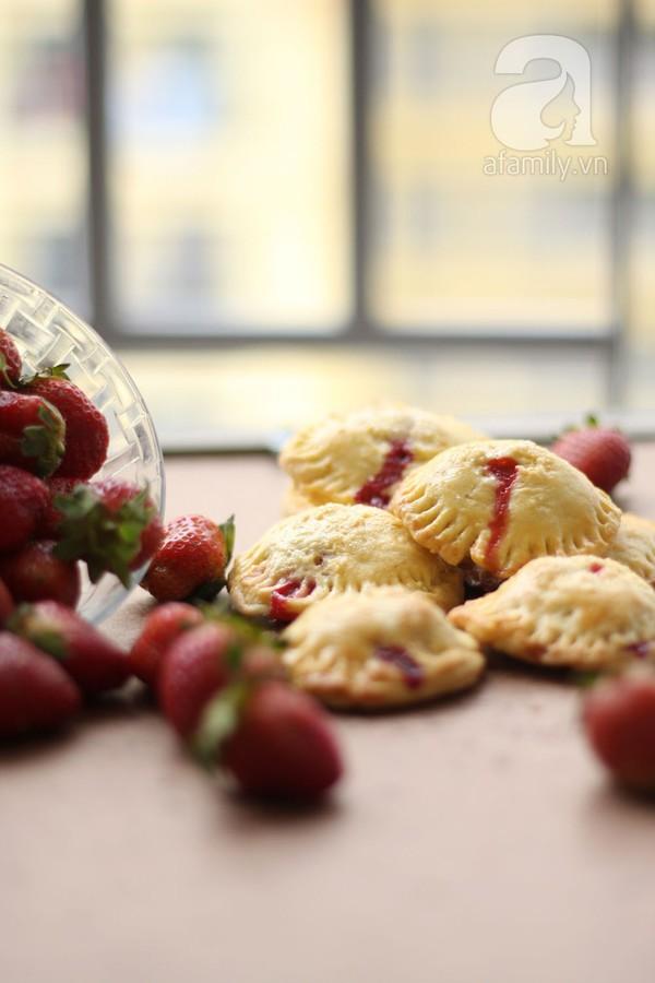 Bánh Pie dâu tây chua ngọt thử là yêu 1