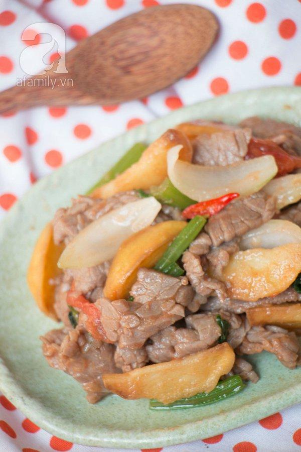 Thịt bò xào khoai tây ngon lạ cho bữa tối 20