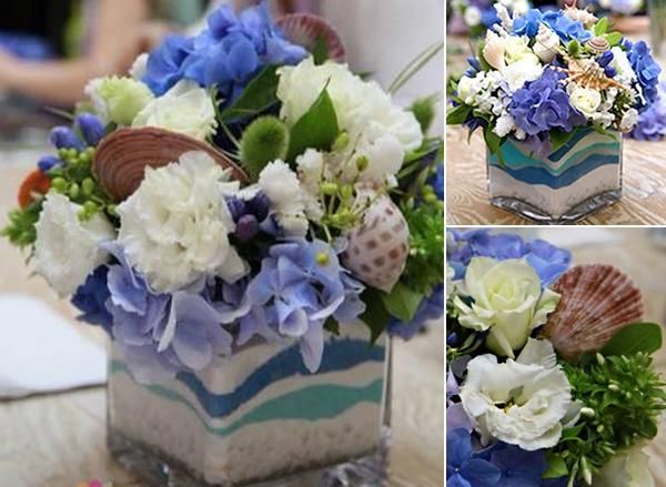 Cắm hoa với cát màu thật phong cách và tinh tế 14
