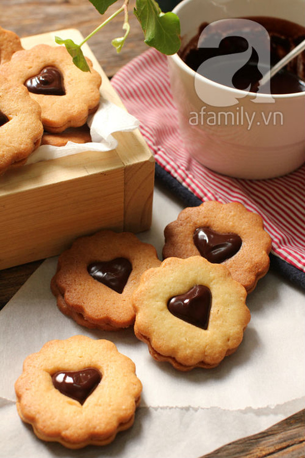 Bánh quy kẹp chocolate ngon đẹp cho dịp Valentine 21