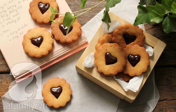 Bánh quy kẹp chocolate ngon đẹp cho dịp Valentine 1
