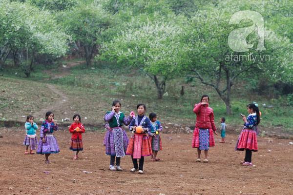 Phụ nữ, trẻ em trong khuôn hình thú vị mùa xuân Mộc Châu 15