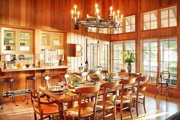 Ngắm những mẫu phòng ăn thanh lịch mang phong cách đồng quê 2
