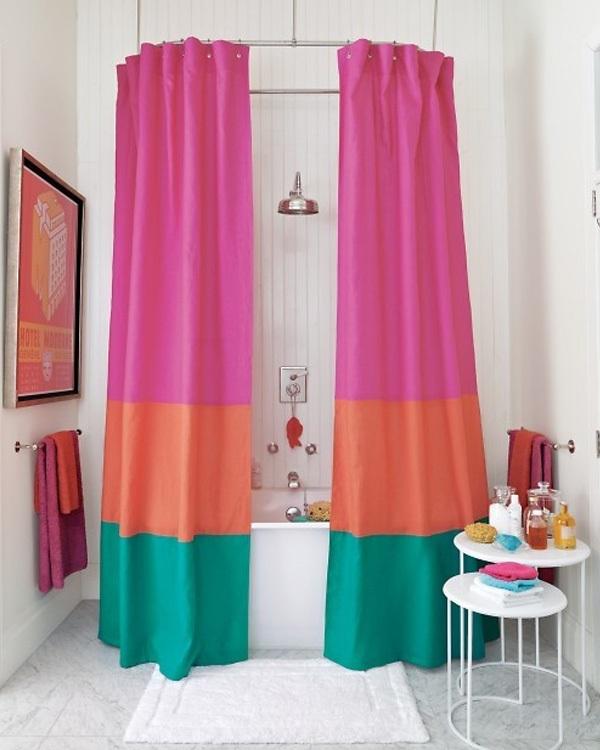 Mẹo làm mới phòng tắm với những chiếc rèm che độc đáo 6