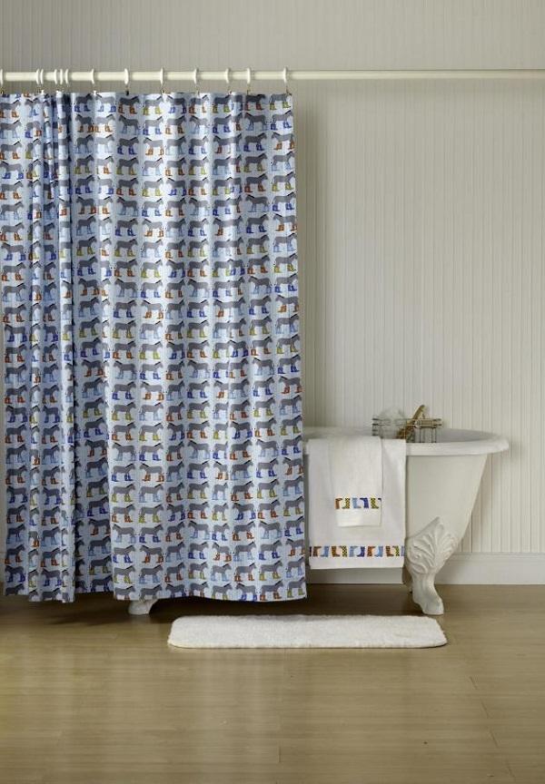 Mẹo làm mới phòng tắm với những chiếc rèm che độc đáo 3