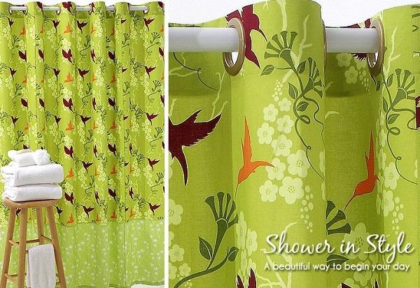 Mẹo làm mới phòng tắm với những chiếc rèm che độc đáo 2