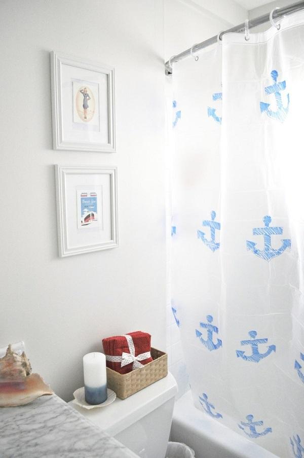 Mẹo làm mới phòng tắm với những chiếc rèm che độc đáo 1