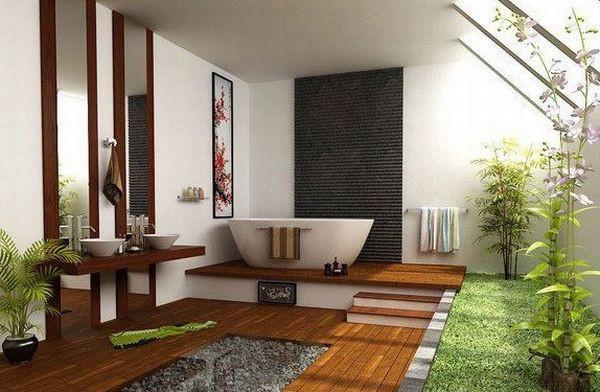 Học cách trang trí phòng tắm đẹp mê theo phong cách Nhật Bản 1