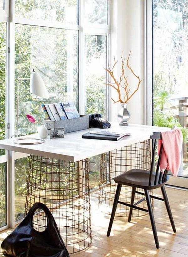 Thêm cảm hứng sáng tạo với bàn làm việc duyên dáng từ gỗ cũ 7