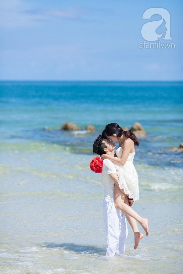 Chuyện tình ngọt ngào của cặp đôi chung lớp và bộ ảnh cưới biển đẹp như mơ 5