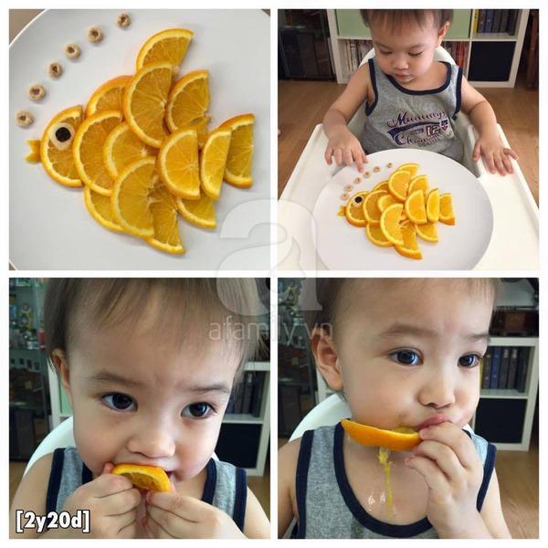 Trang trí món ăn cho bé