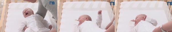 Cách đặt bé ngủ an toàn trong cũi