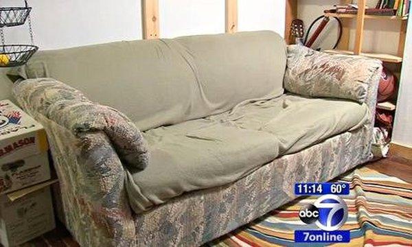 Ít tiền nên mua thanh lý chiếc sofa cũ xấu xí bốc mùi, 3 bạn trẻ bàng hoàng phát hiện bí mật giấu trong chiếc ghế - Ảnh 2.