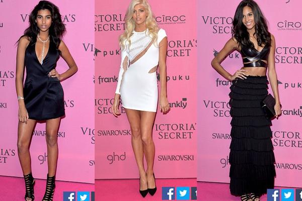 Ngọc Trinh & Khánh My cũng xuất hiện trên thảm đỏ Victoria's Secret Show 11