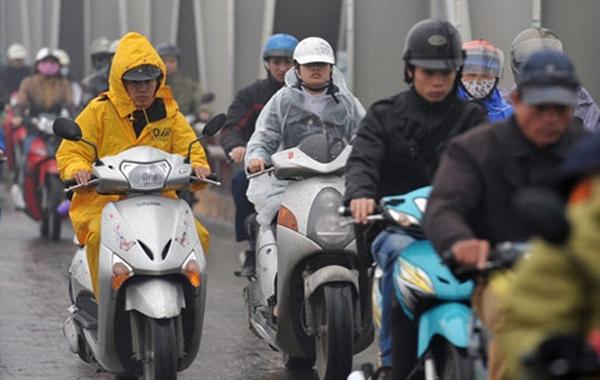 Chiều nay, Hà Nội mưa rét 15 độ