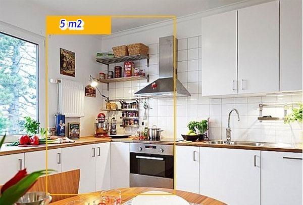 Mẹo tận dụng 5 mét vuông biến phòng bếp trở nên gọn gàng 2