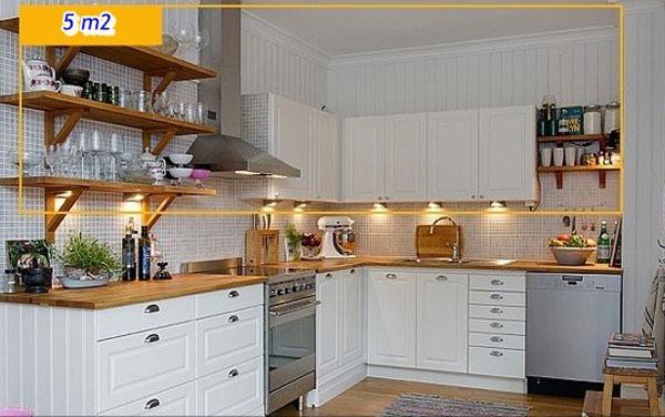 Mẹo tận dụng 5 mét vuông biến phòng bếp trở nên gọn gàng 3