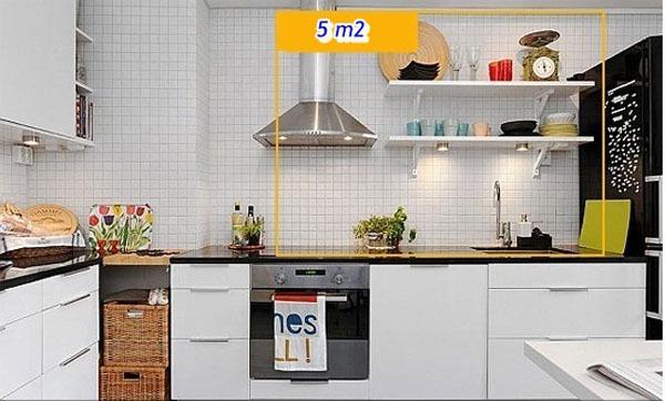 Mẹo tận dụng 5 mét vuông biến phòng bếp trở nên gọn gàng 4