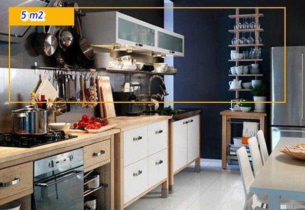 Mẹo tận dụng 5 mét vuông biến phòng bếp trở nên gọn gàng 6
