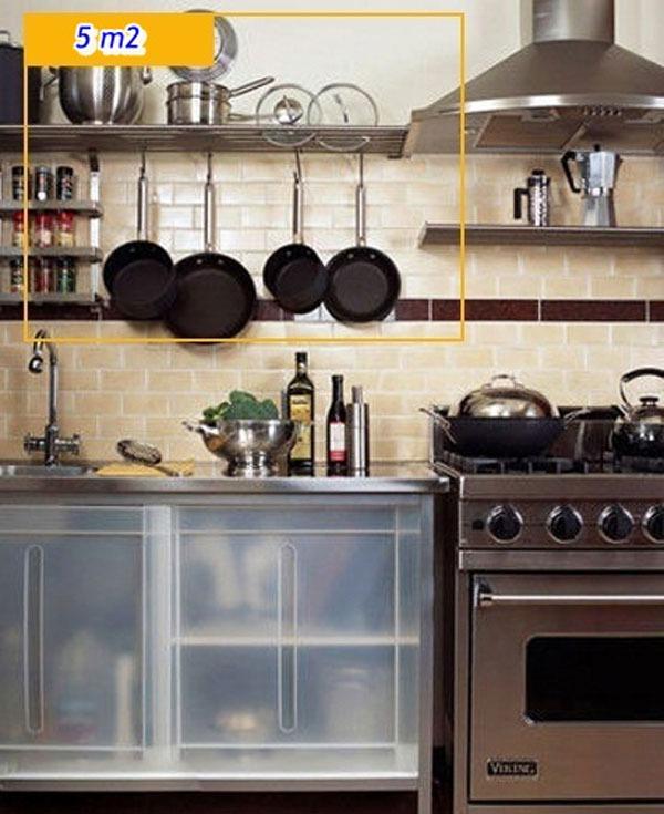 Mẹo tận dụng 5 mét vuông biến phòng bếp trở nên gọn gàng 7