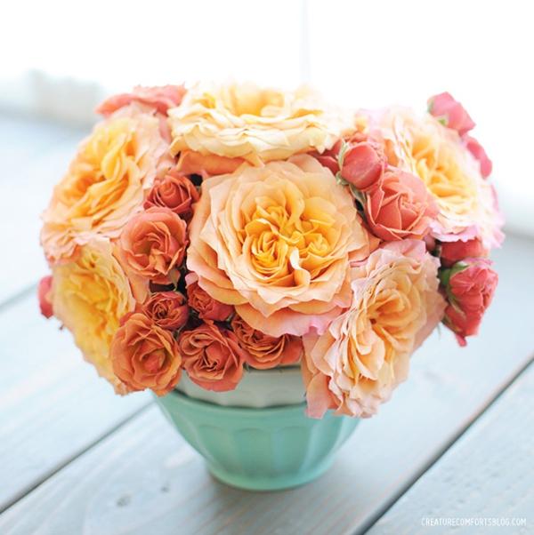 Gợi ý cách cắm hoa hồng ấn tượng cho từng không gian sống  10