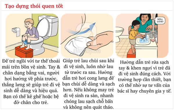 Kĩ năng chuẩn khi đi vệ sinh bố mẹ cần dạy con từ sớm 3