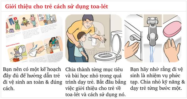 Kĩ năng chuẩn khi đi vệ sinh bố mẹ cần dạy con từ sớm 4