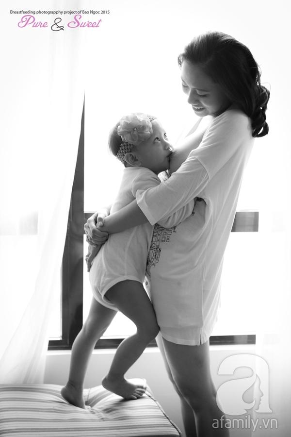 Bộ ảnh đẹp đến ngỡ ngàng của mẹ Việt khi cho con bú 8