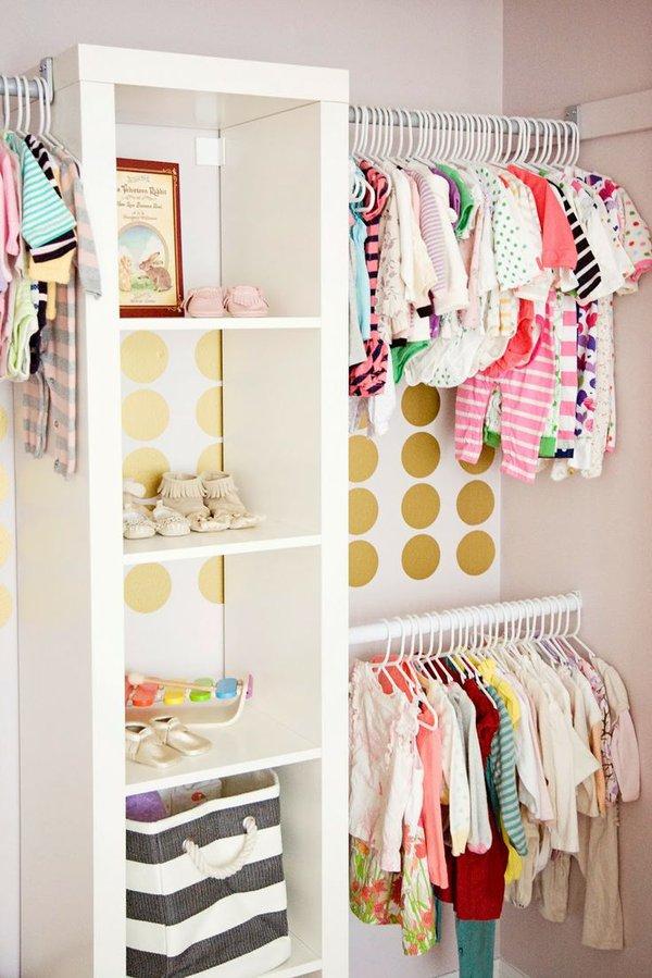 """Những mẹo nhỏ """"quy hoạch"""" tủ quần áo của bé sạch, đẹp, ngăn nắp 11"""