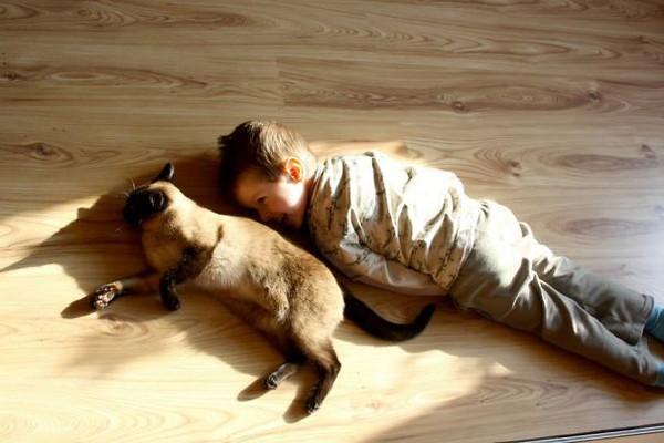 Chùm ảnh bé bắt chước động tác của thú cưng siêu đáng yêu 4