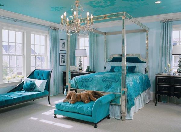 Bài trí phòng ngủ hoàn hảo với màu ngọc lam 2