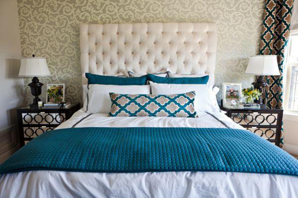 Bài trí phòng ngủ hoàn hảo với màu ngọc lam 3