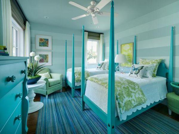 Bài trí phòng ngủ hoàn hảo với màu ngọc lam 1
