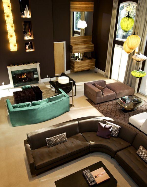 Những biến hóa nội thất phong cách với sofa màu ngọc lam 1