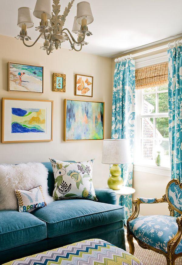 Những biến hóa nội thất phong cách với sofa màu ngọc lam 7